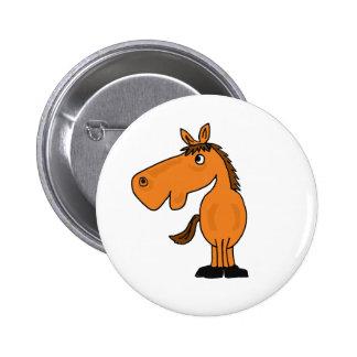 XX- desenhos animados engraçados do cavalo Bóton Redondo 5.08cm
