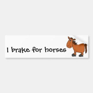 XX- desenhos animados engraçados do cavalo de baía Adesivo Para Carro