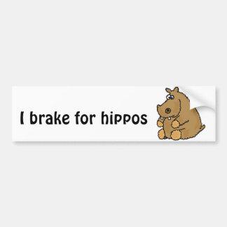 XX- desenhos animados engraçados do hipopótamo Adesivo Para Carro