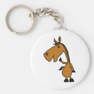 XX- desenhos animados Funky do cavalo Chaveiro