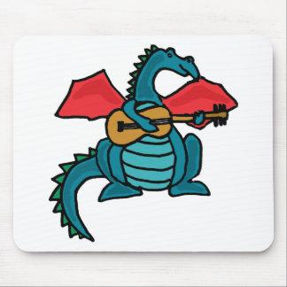 XX- dragão que joga a guitarra Mouse Pad