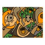 XX- esquilos da arte abstracta Cartões Postais