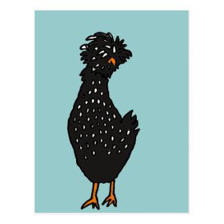 XX- galinha polonesa Funky Cartões Postais