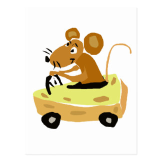 XX- rato que conduz uns desenhos animados do carro Cartões Postais