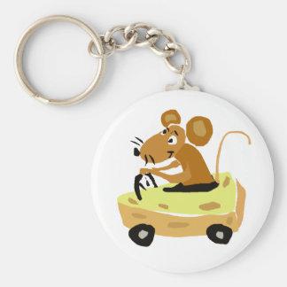 XX- rato que conduz uns desenhos animados do carro Chaveiros