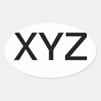 XYZ- examine seu zipper Adesivo Oval