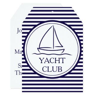 Yacht club convite 12.7 x 17.78cm