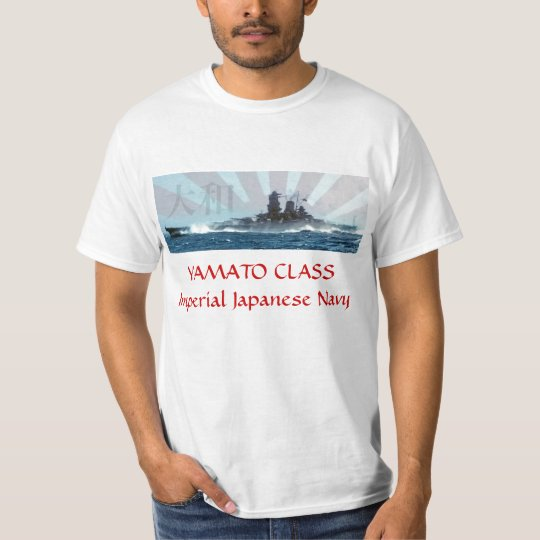 Yamato Imperial Japanese Navy Battleship T-Shirt Camiseta