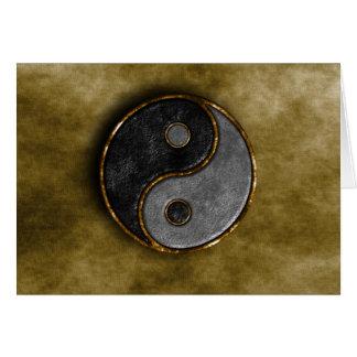 Yang e Yin Cartão Comemorativo