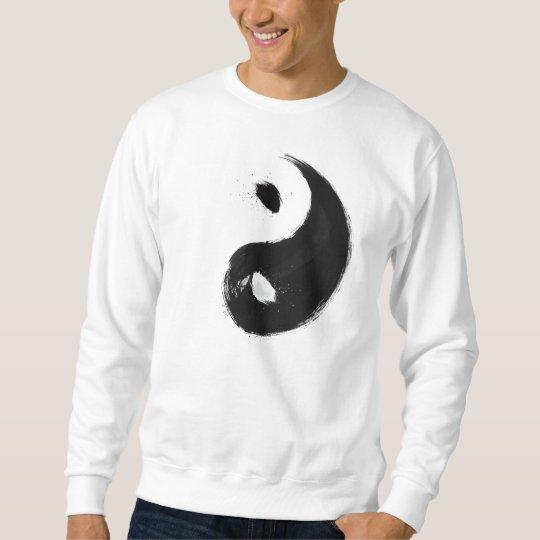 Yang - Ink   Suéter Básico, Branco