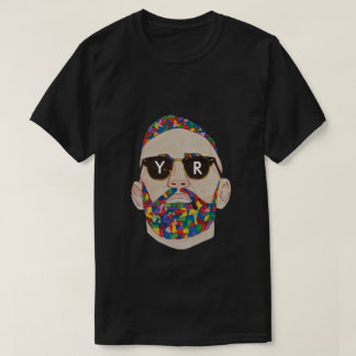 YaR Preto Documento impresso Graffiti Camiseta