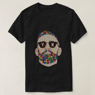 YaR Preto Documento impresso Graffiti Camisetas