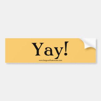 """Yay!"" autocolante no vidro traseiro Adesivo"