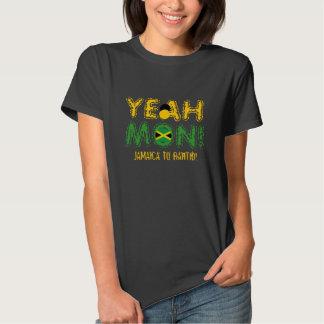 Yeah segunda-feira Jamaica à camisa de Rahtid T Camisetas