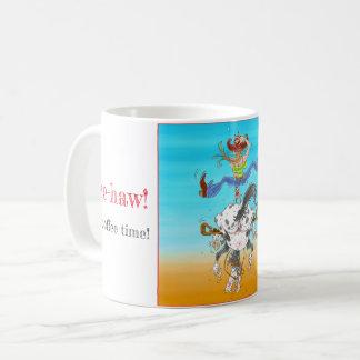Yee-haw é caneca do tempo do café