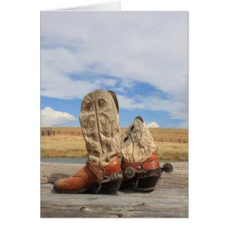 Yeeha! Cartão de bota ocidental