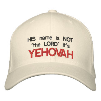 """YEHOVAH, SEU nome não é """"o SENHOR"""" que é Boné Bordado"""