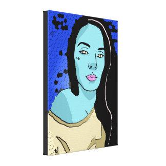 Yelloe Eyed o impressão das canvas da menina