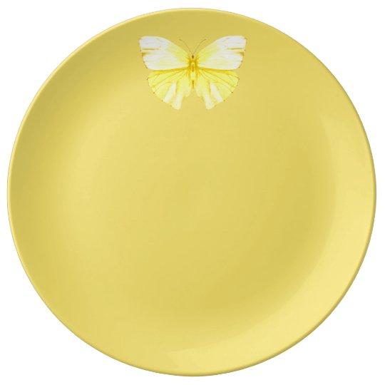 Yellow Butterfly Plate Louça De Jantar