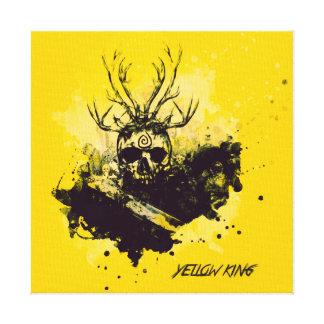 Yellow King Impressão Em Tela