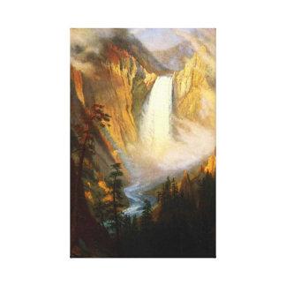 Yellowstone cai envoltório das canvas