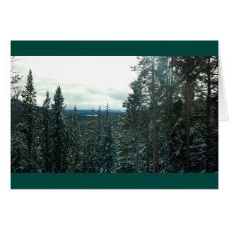 Yellowstone no cartão do Natal ou dos feriados do
