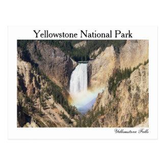 Yellowstone - um mais baixo Yellowstone cai cartão