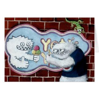 Yeti e seu logotipo cartão