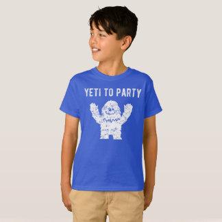 Yeti para party a camisa do boneco de neve