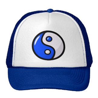 Yin azul lustroso Yang no equilíbrio Boné