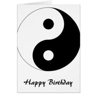 Yin calmo Yang Cartão Comemorativo
