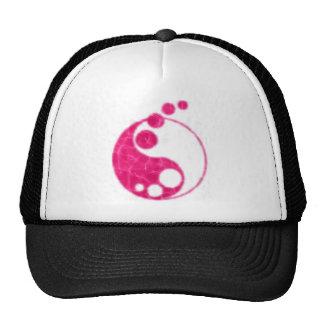 yin cor-de-rosa yang boné