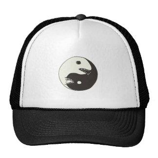 yin do estilo dos desenhos animados e luta de yang boné