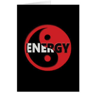 Yin e conceito da energia de yang cartão comemorativo