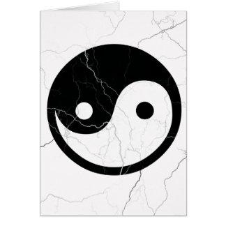 Yin preto e branco e Yang Cartão Comemorativo