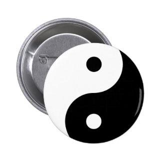 Yin Yang Bóton Redondo 5.08cm