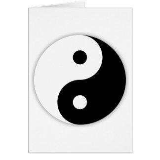 Yin & Yang Cartão Comemorativo