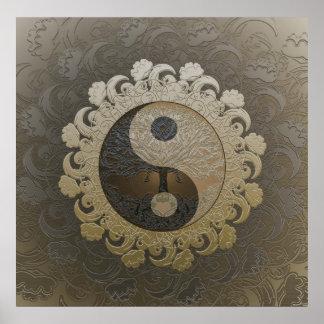 Yin Yang com a árvore de vida por Amelia Carrie no Pôster