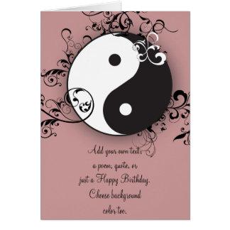 Yin-Yang com desdobramento Cartão Comemorativo