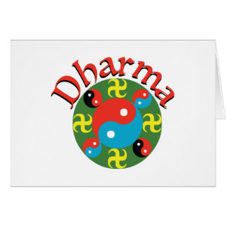 Yin Yang Dharma Cartão Comemorativo