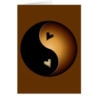 yin yang do caramelo cartão comemorativo