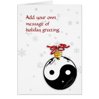 Yin & Yang e cartão dos flocos de neve