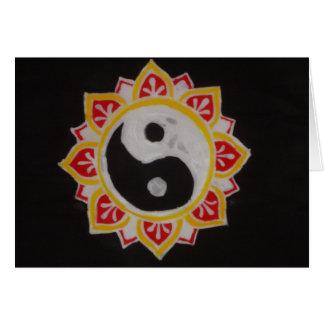 """Yin Yang Lotus "" Cartão Comemorativo"