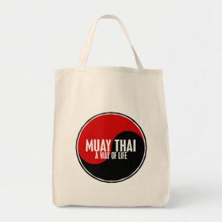 Yin Yang Muay 1 tailandês Sacola Tote De Mercado