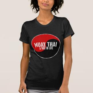 Yin Yang Muay 1 tailandês T-shirts