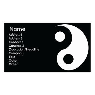 Yin Yang - negócio Cartoes De Visitas