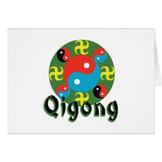 Yin Yang Qigong Cartão Comemorativo