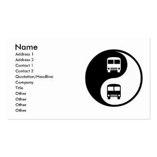 Yin Yang que conduz um ônibus Cartoes De Visita
