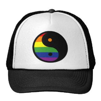 Yin-Yang-Símbolo-Arco-íris Boné
