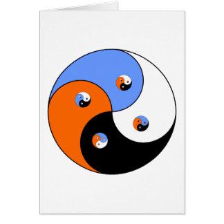 Yin Yang Yong 4 Cartão Comemorativo
